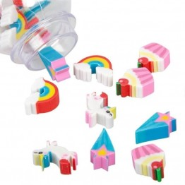 Unicorn Mini Erasers