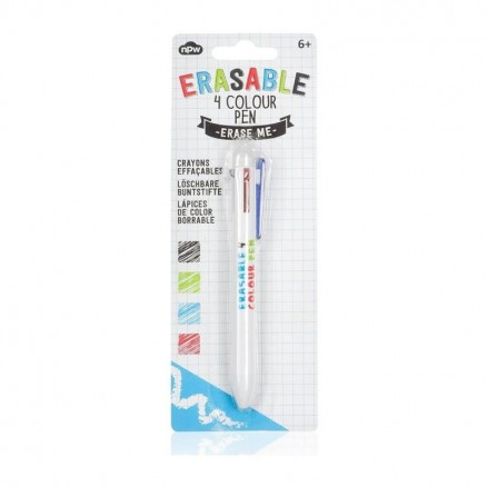 Erasable 4 Colour Pen