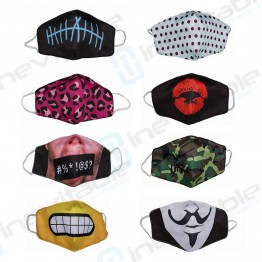 Washable Face Masks - Pack of 8 Mixed Designs
