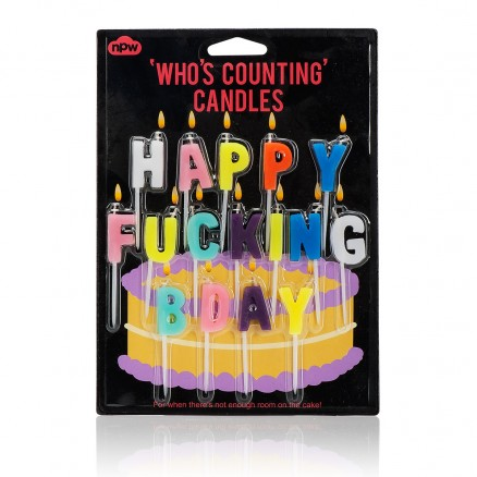 Happy Fin Bday Candles