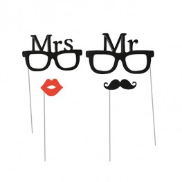 Mr & Mrs Photo Props